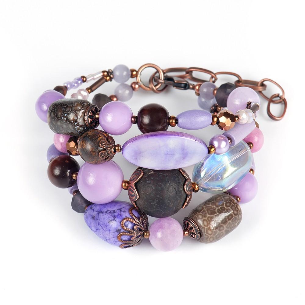 Женские браслеты из камней картинки